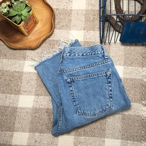 Vintage 90s gap blue jean crop hem